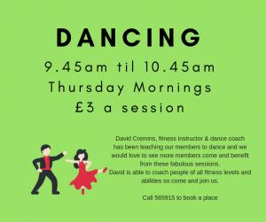 Dancing Thursday mornings