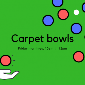 Carpet bowls advert