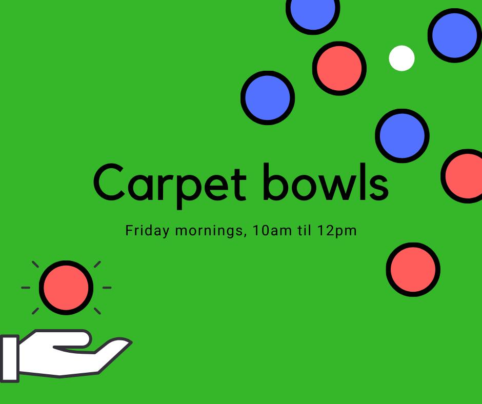 Carpet bowls advert