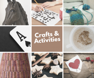 Crafts and activities advert