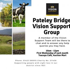 Pateley Bridge Vision Support Group Advert