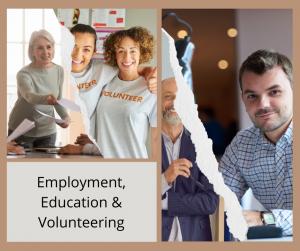 Employment, education & volunteering logo